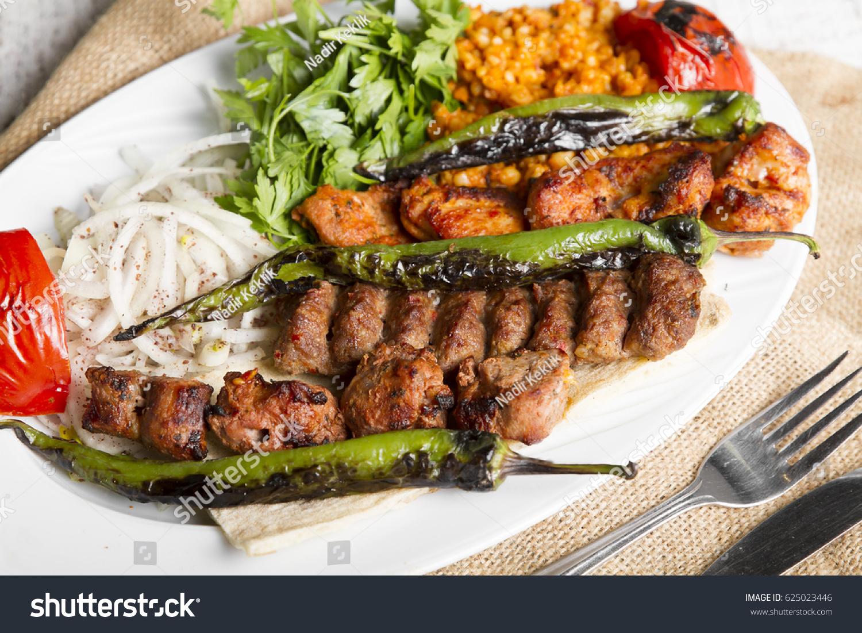 Turkish Arabic Traditional Ramadan Mix Kebab Stock Photo Edit Now 625023446