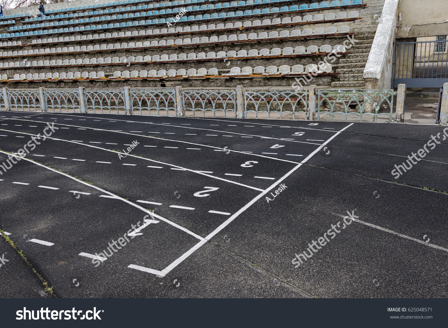Old Torn Running Track Old Racing Stock Photo 625048571 - Shutterstock