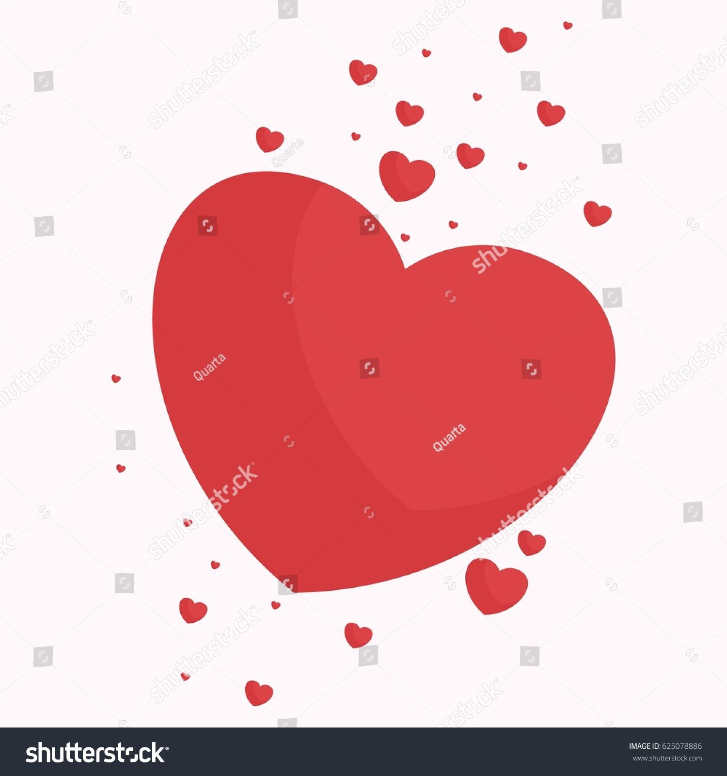 Love Heart Explosion Feelings Emotions Flow Stock Vector Royalty