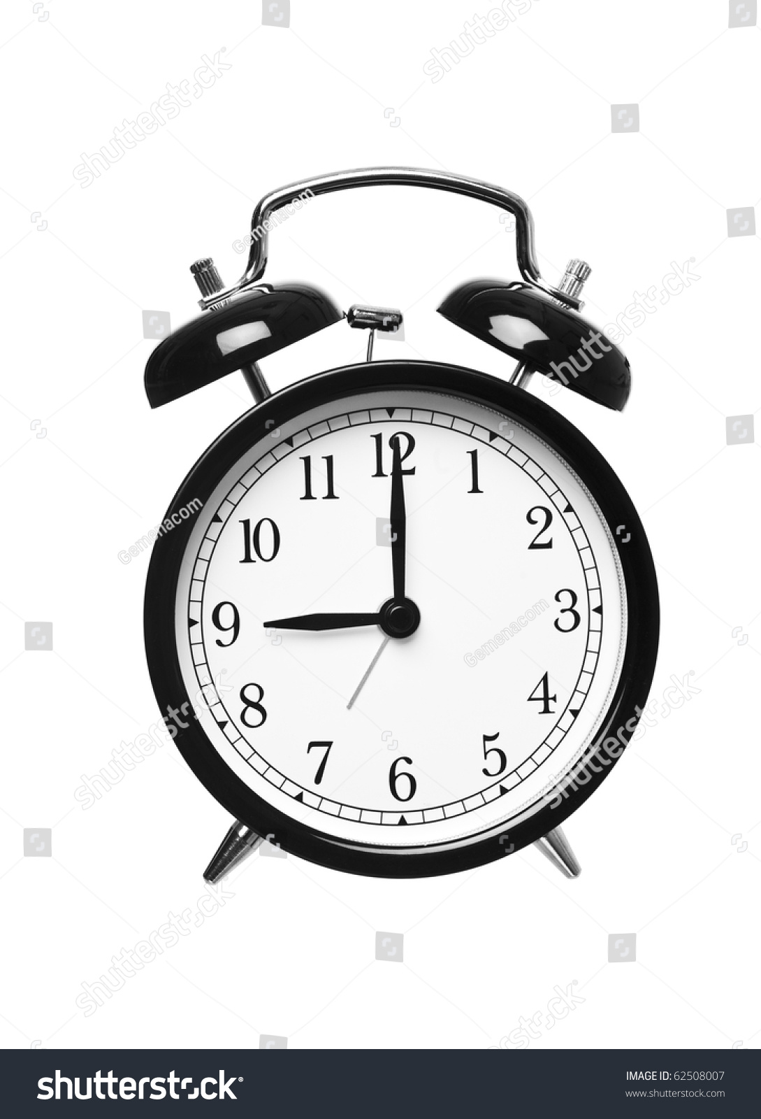 Alarm Clock Shows Nine Oclock Isolated Stock Photo Edit Now