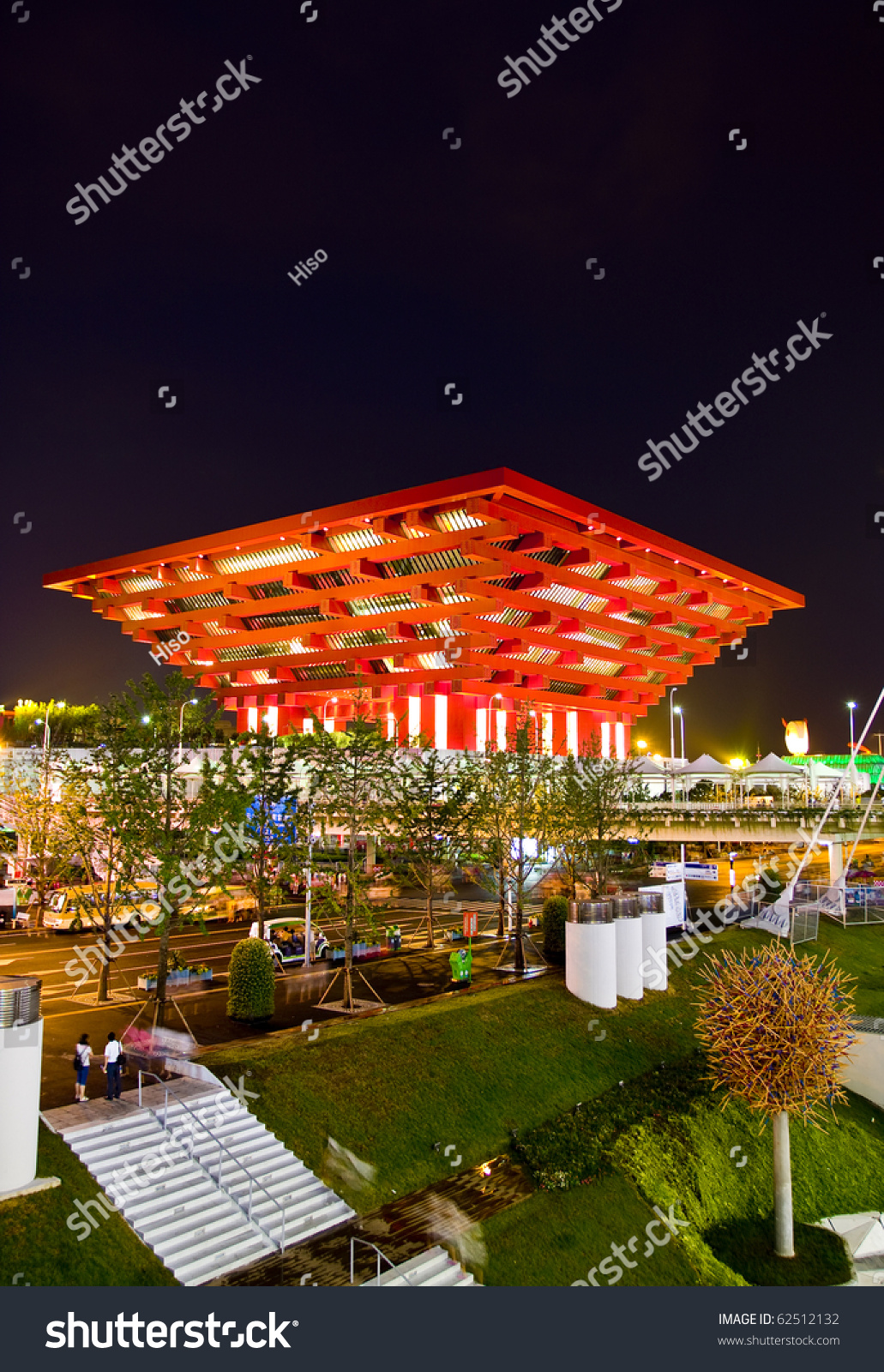 Shanghai August 15 Expo China Pavilion Stock Photo 62512132 ...
