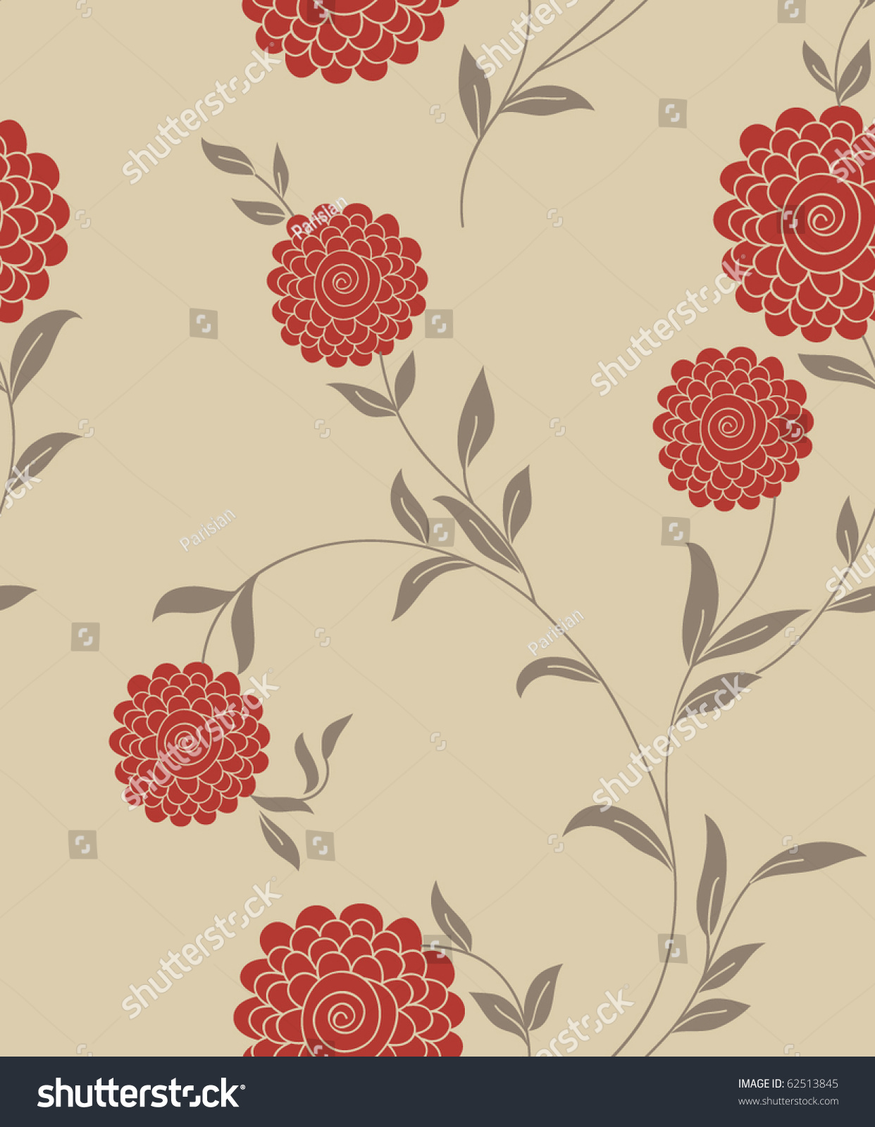 Floral Vintage Seamless Pattern Retro Wallpapers Stock Vector