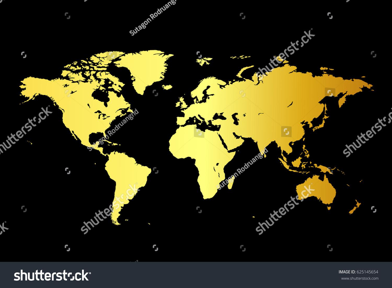 World map on gold black background vectores en stock 625145654 world map on gold black background gumiabroncs Images