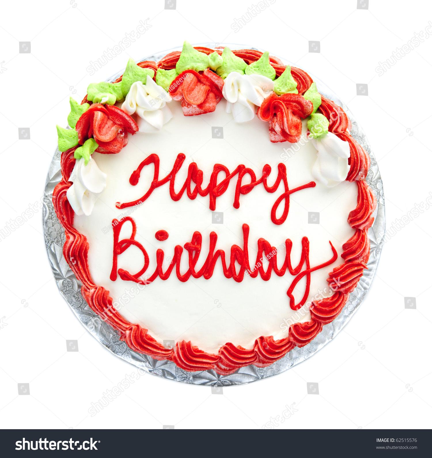 Birthday Cake Writing Above Isolated On Stock Photo Edit Now