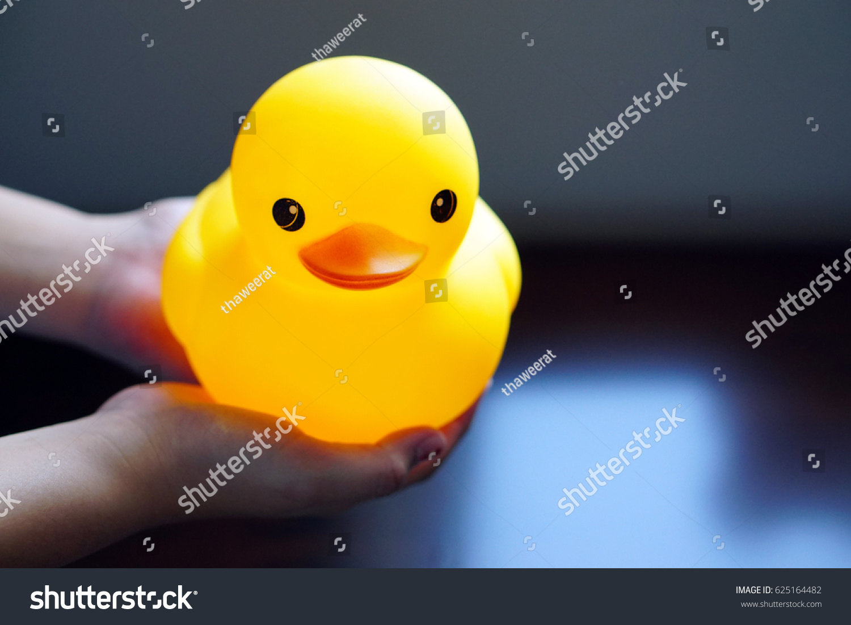 Closeup Big Rubber Duck Duckling Little Stock Photo (Edit Now ...