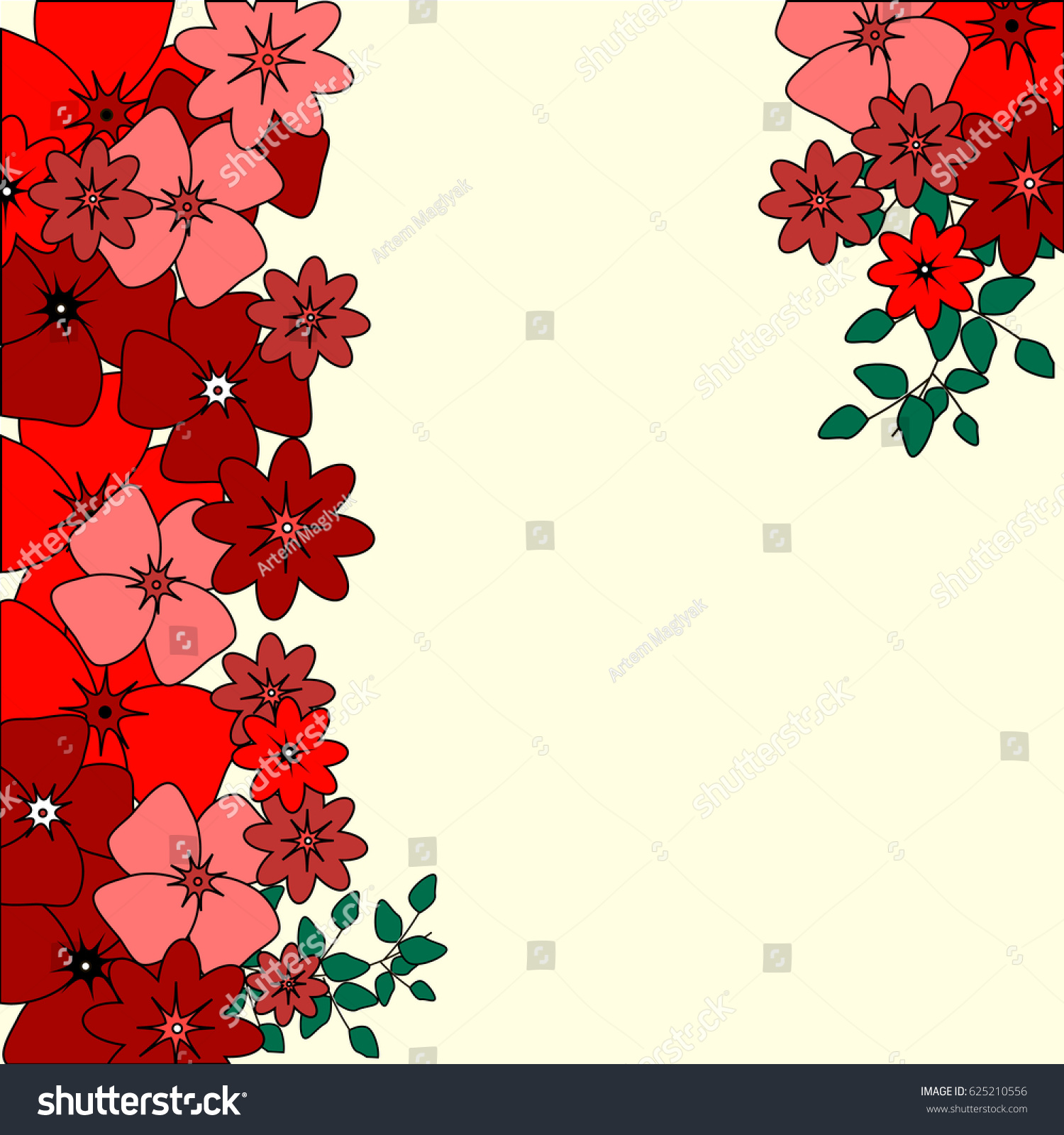 invitation card with flowers for wedding, background, cute pink and ...