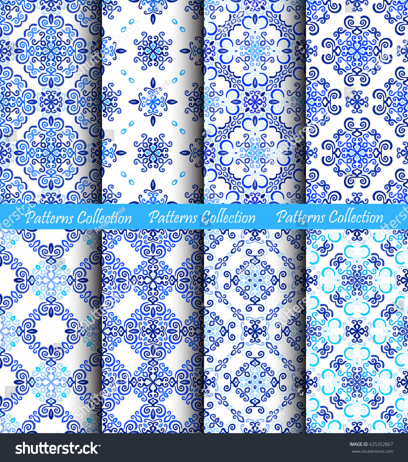 Abstract Flower Background With Decoration Elements For: Blue Backgrounds Stylized Floral Fabric Prints Stock