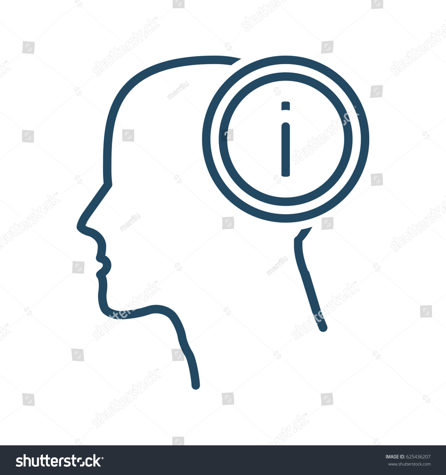 human head information vector icon meaning stock vector 625436207 rh shutterstock com  medical vector defined