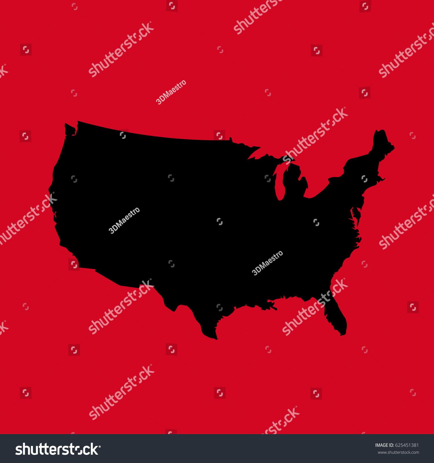 Usa Vector Map Stock Vector  Shutterstock - Map usa vector