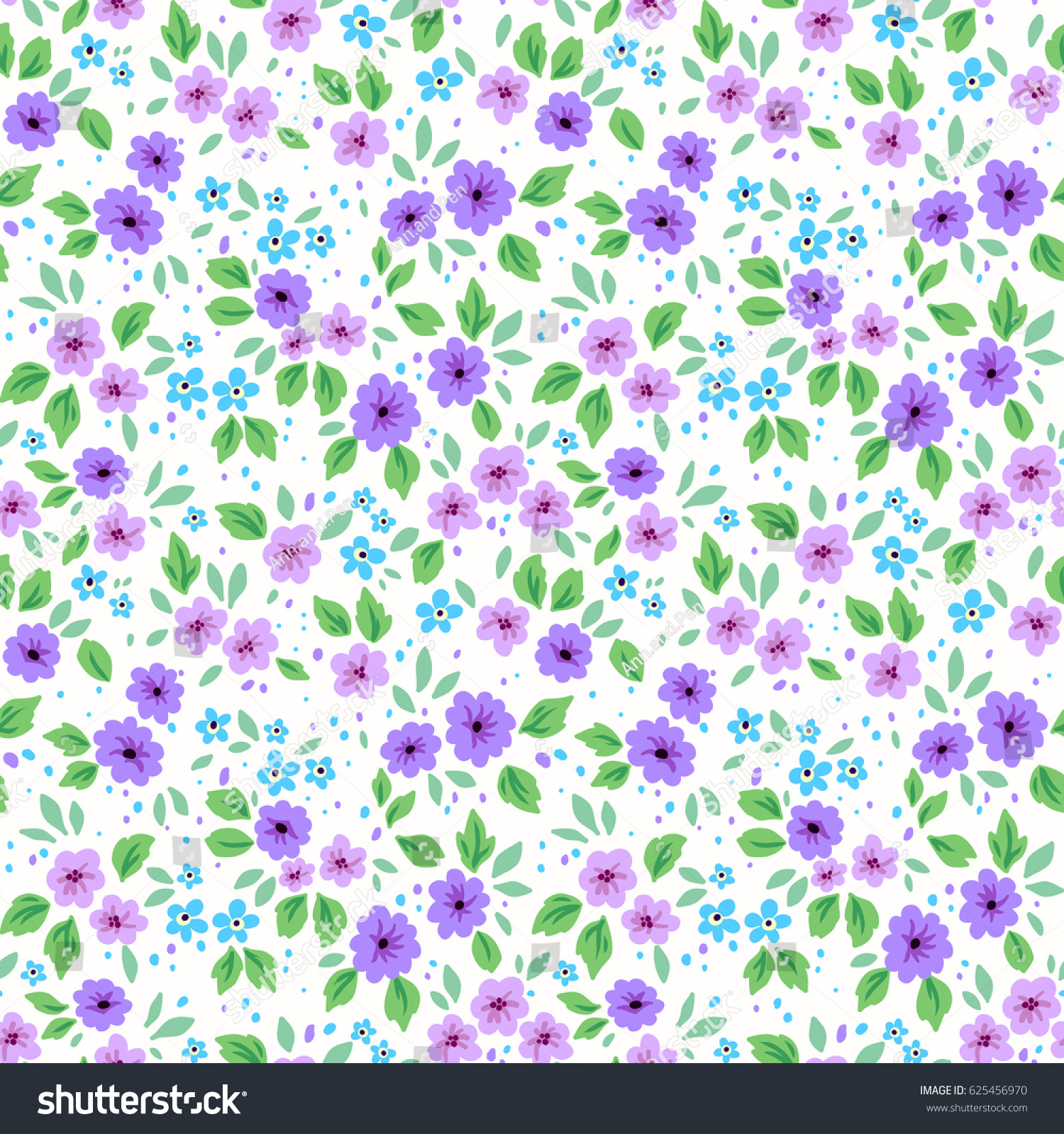 Simple Cute Pattern Small Purple Lilac Stock Vector Royalty Free