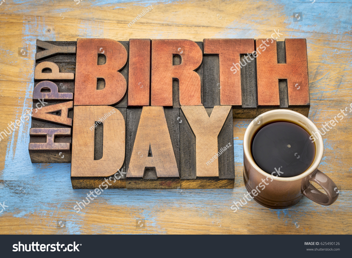 Happy Birthday Greeting Card Word Abstract Stock Photo Edit Now