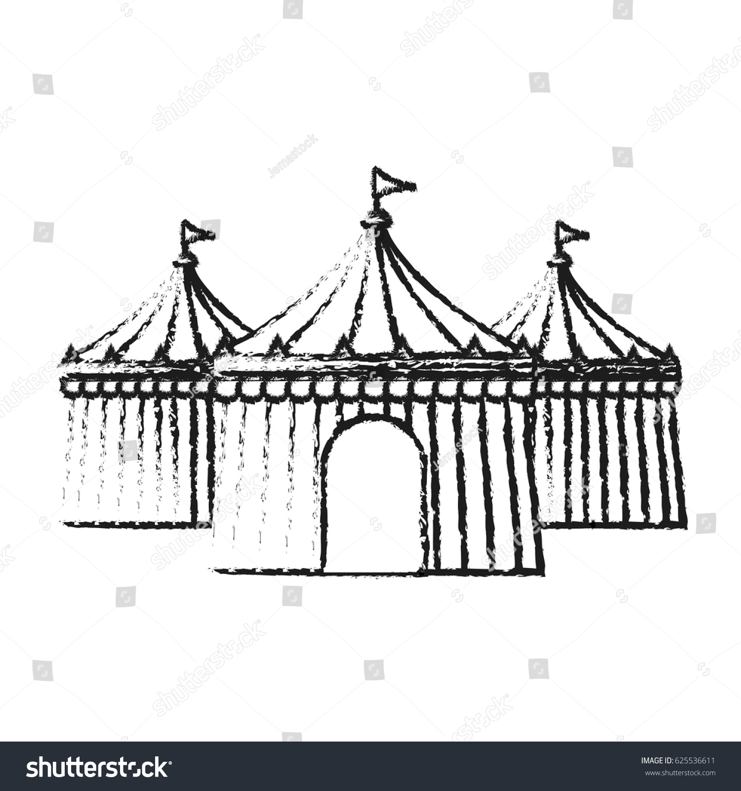 circus tent icon image  sc 1 st  Shutterstock & Circus Tent Icon Image Stock Vector 625536611 - Shutterstock