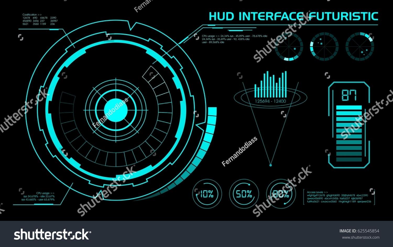 Concept Hud Interface Futuristic Illustration Vector Stock