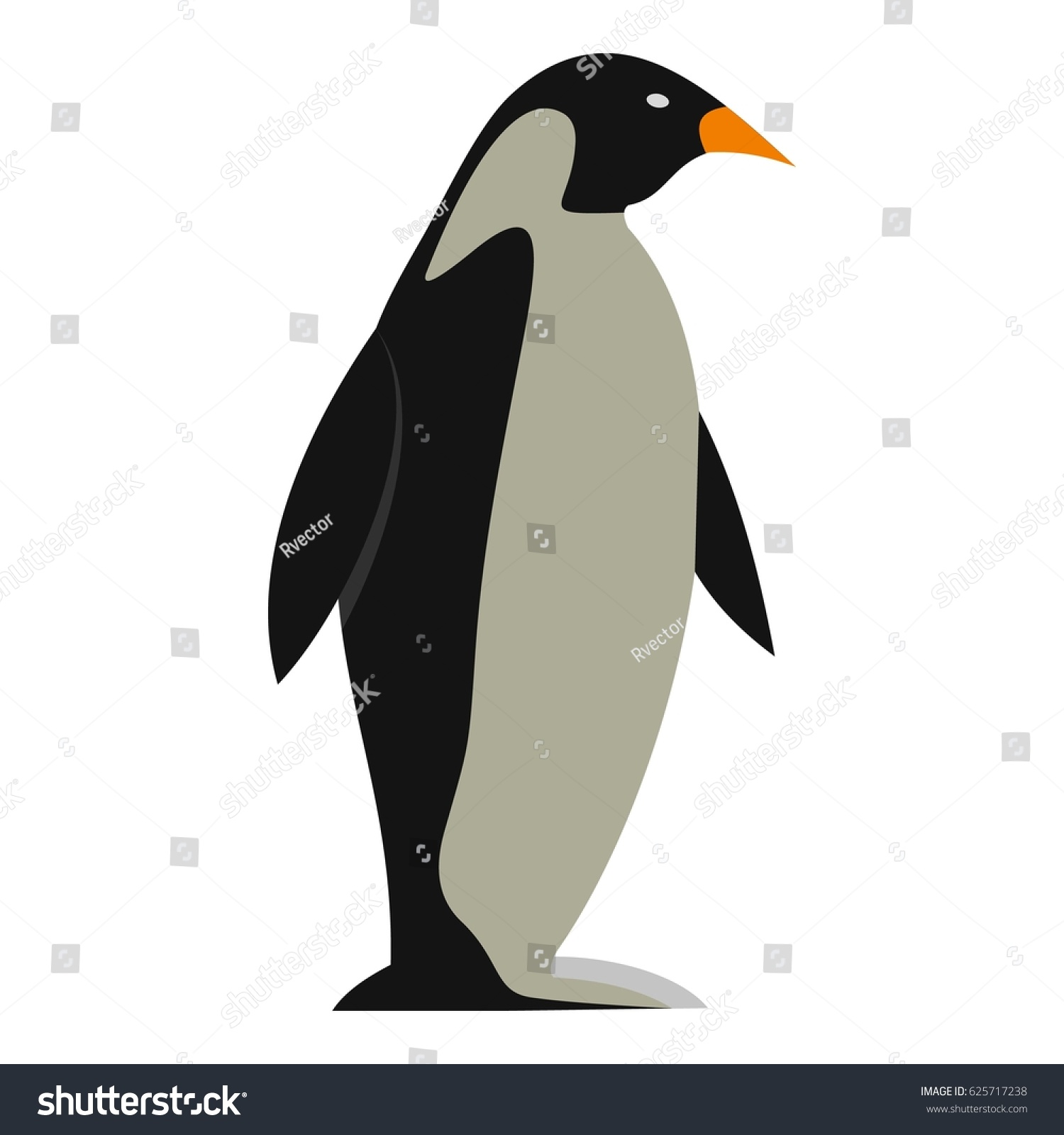 Penguin Icon Flat Isolated On White Stock Vector 625717238 ...