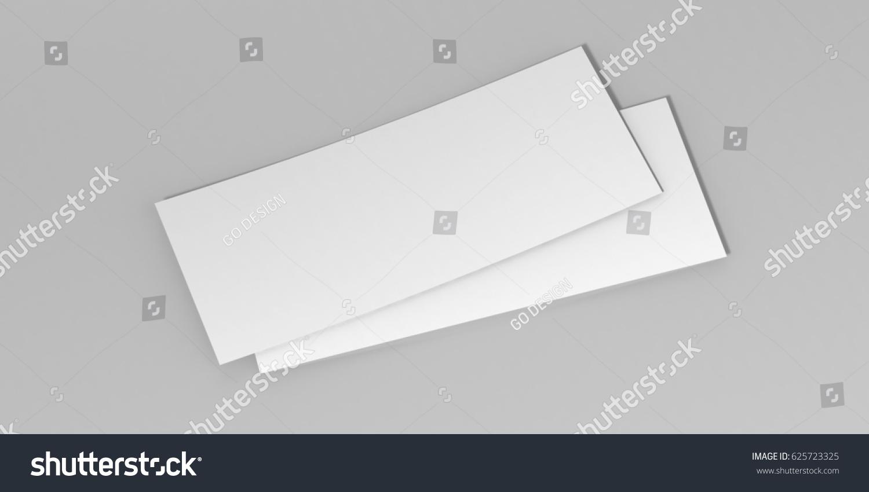 Mock Template Gift Voucher Card On Stock Illustration 625723325 ...
