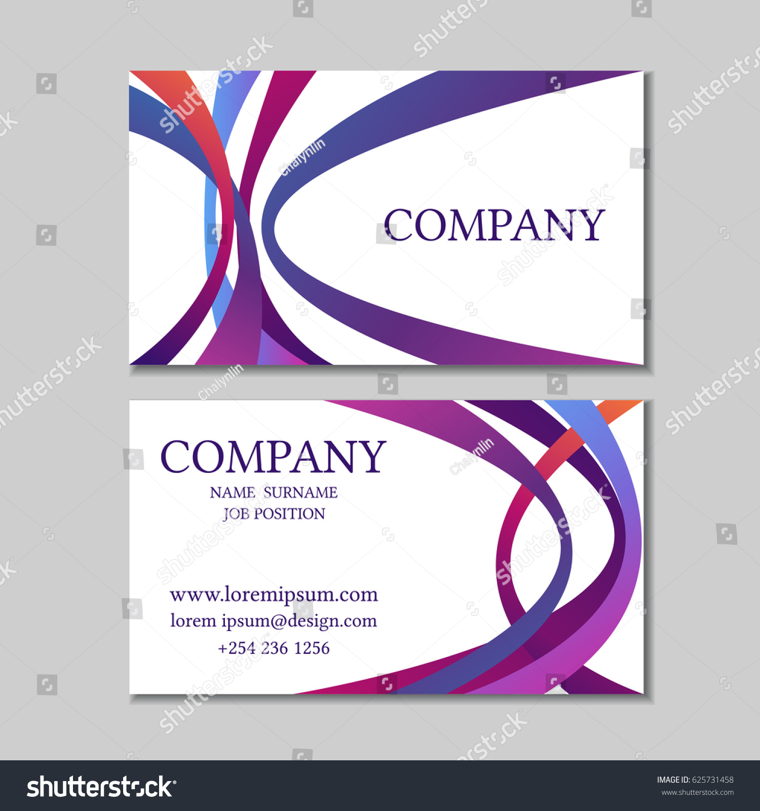 abstract colorful business cards vector illustration stock vector