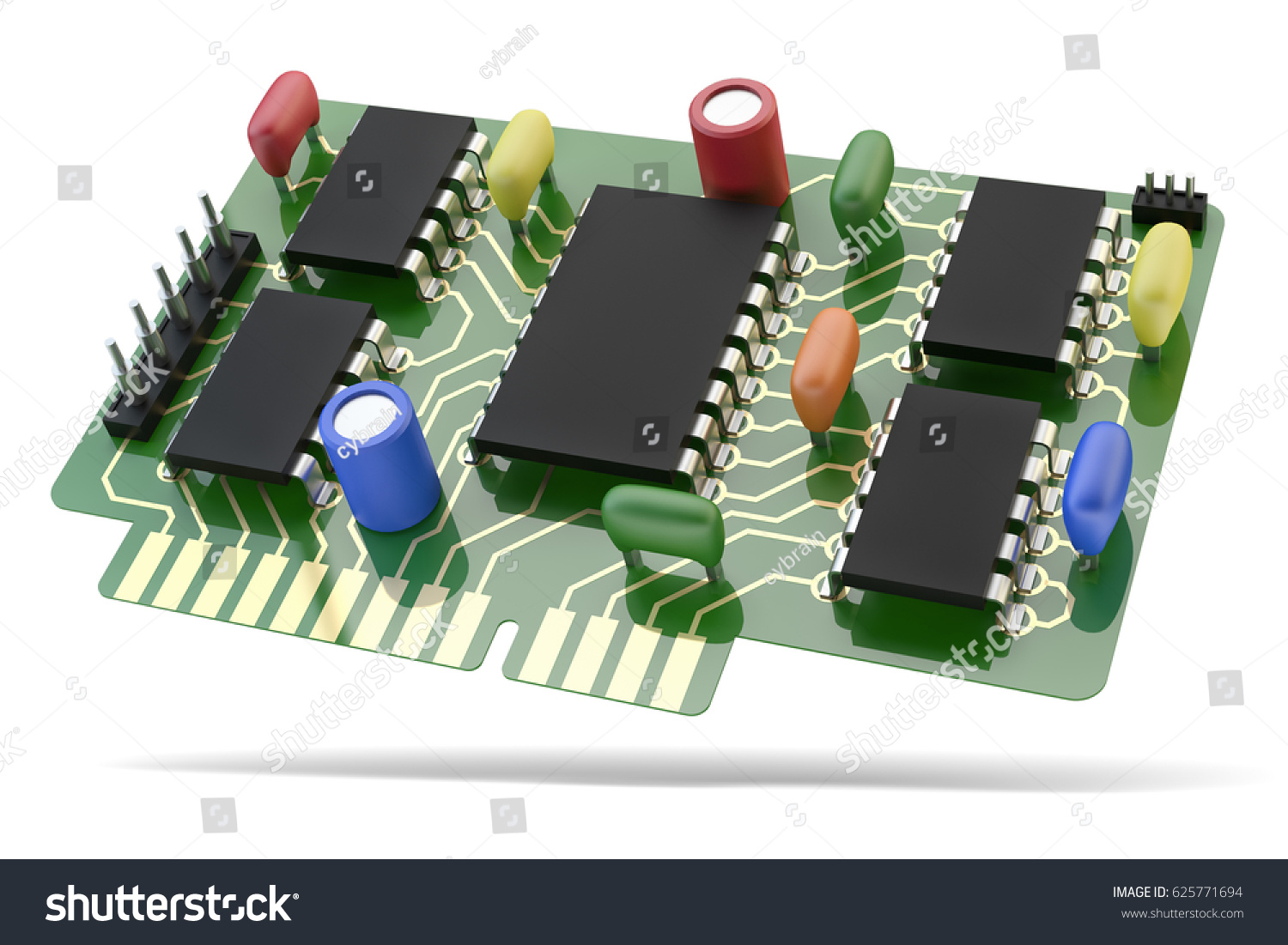 Printed Circuit Board Pcb Microchip Electronic Stock Illustration Of A Green With And Components Electrical Device Icon Isolated