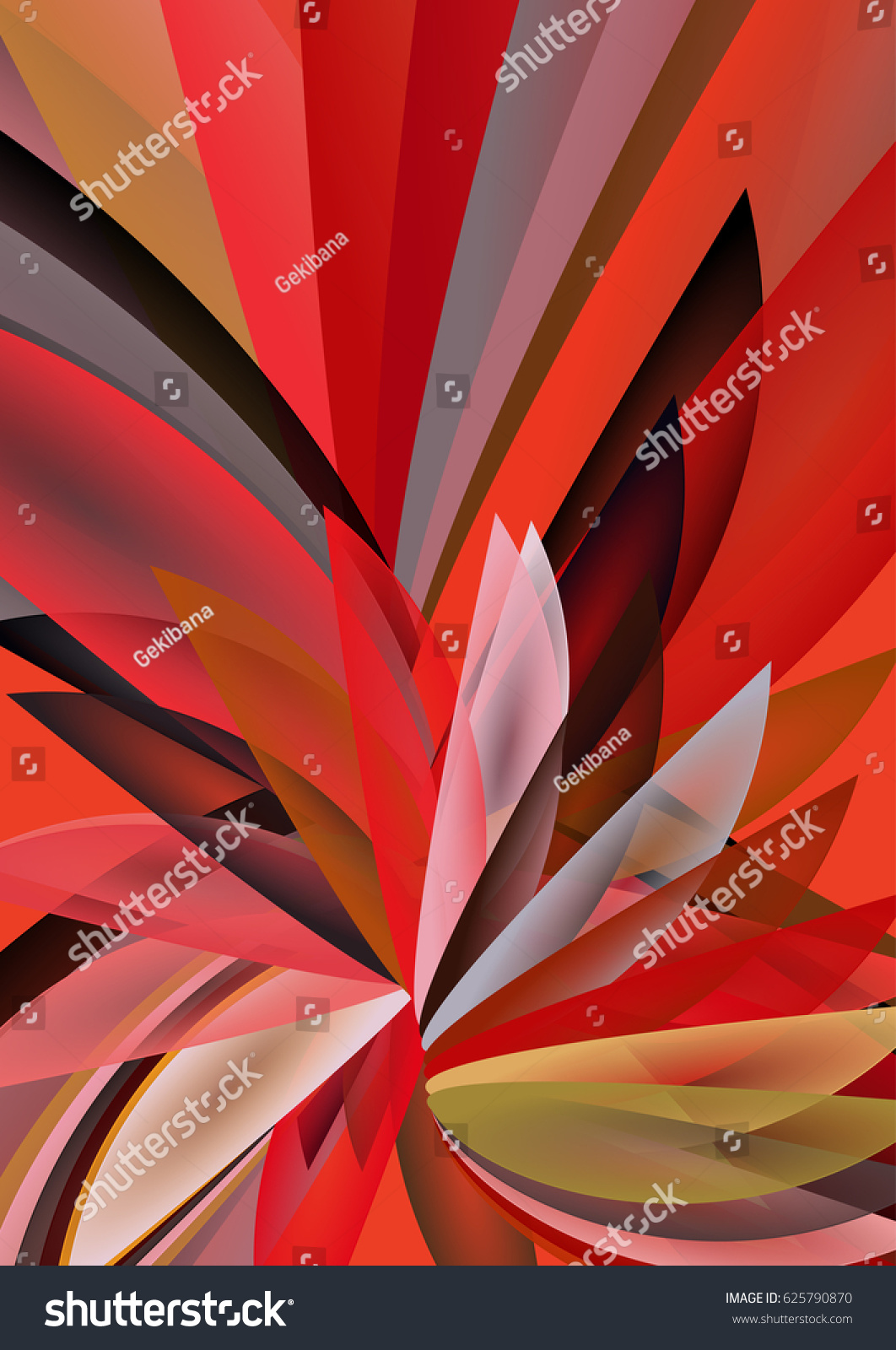 Abstract Geometrical Background Floral Motifs Passionate Stock Vector Royalty Free 625790870