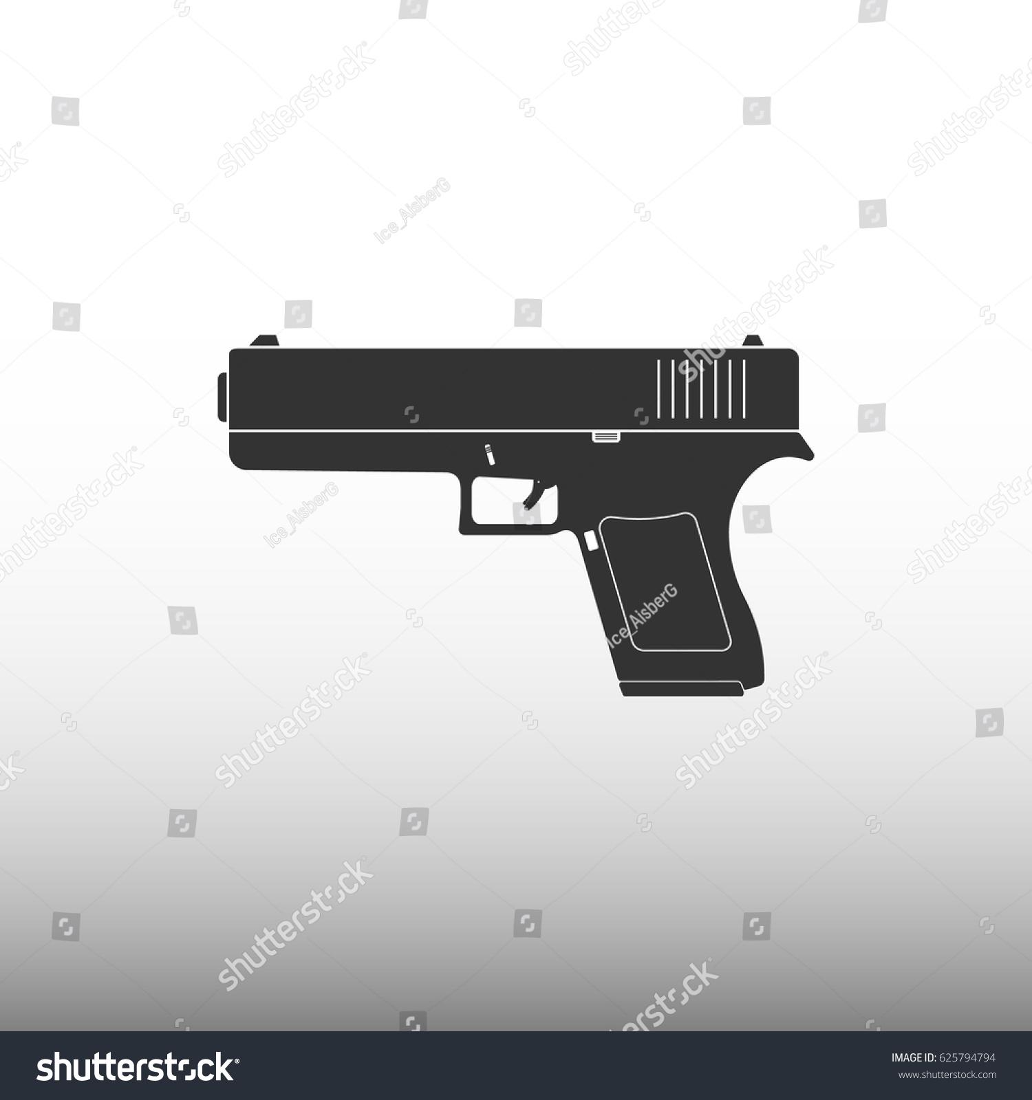 Glock Vector Icon Stock Vector 625794794 Shutterstock