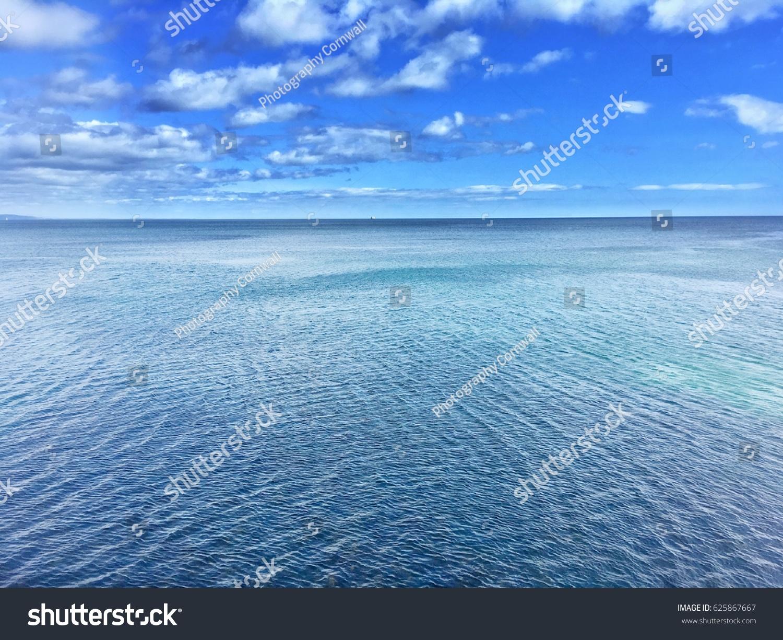 blue ocean clouds scenic - photo #22