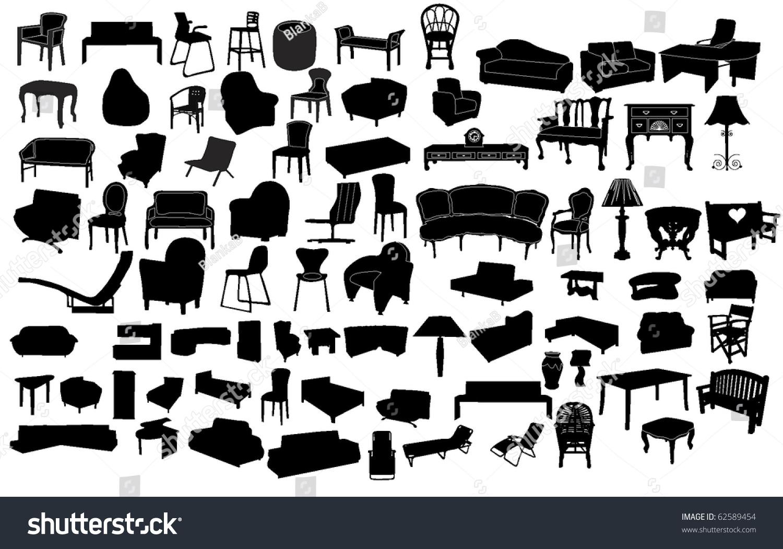 Furniture Stock Vector 62589454