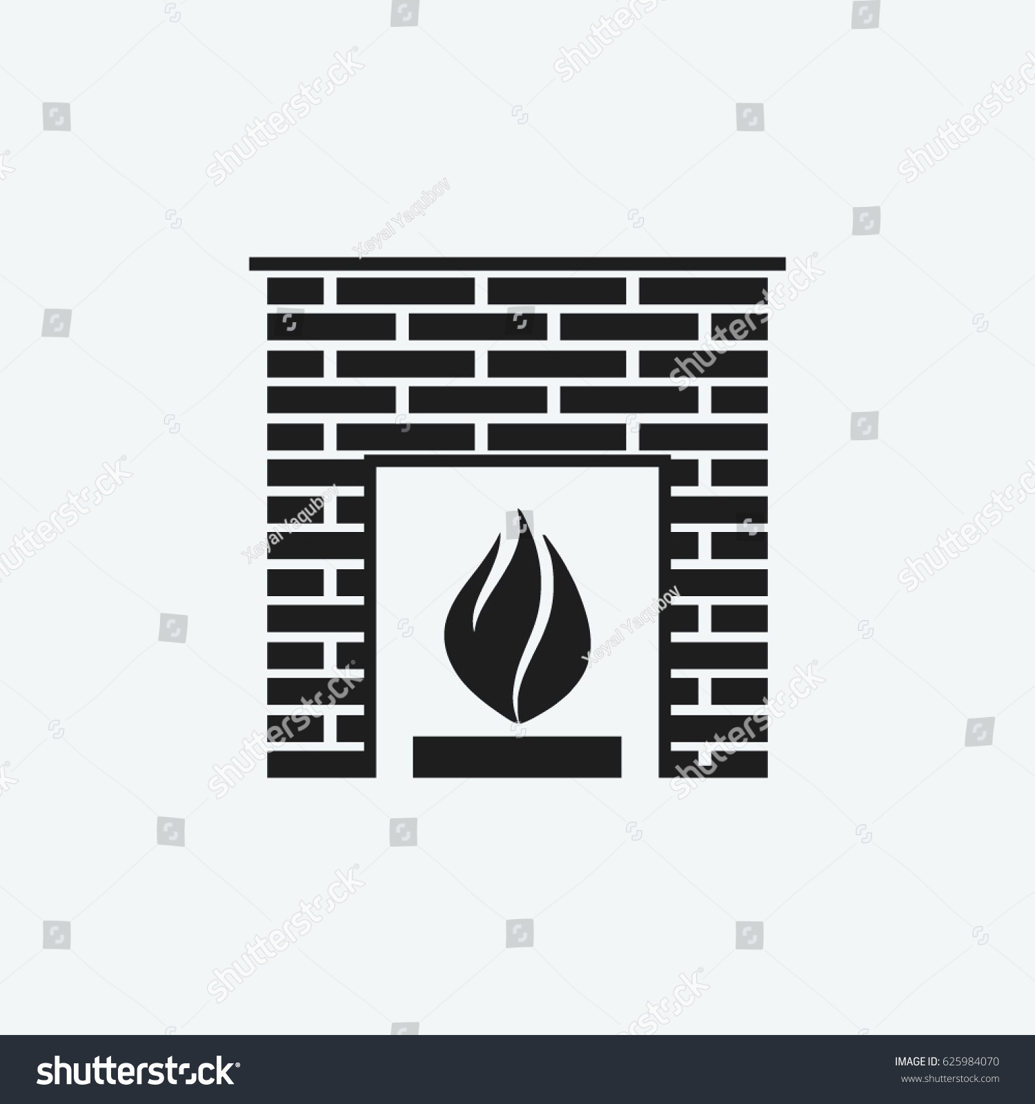oven stove fireplace icon vector stock vector 625984070 shutterstock