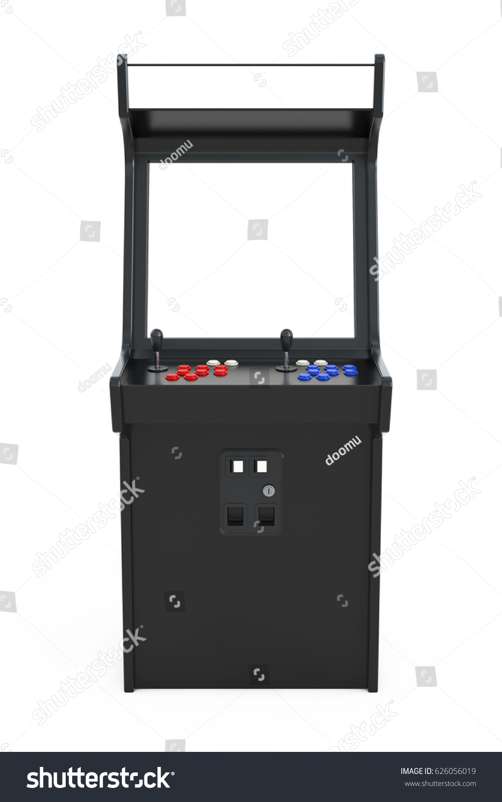 Gaming Arcade Machine Blank Screen Your Stock Illustration ...