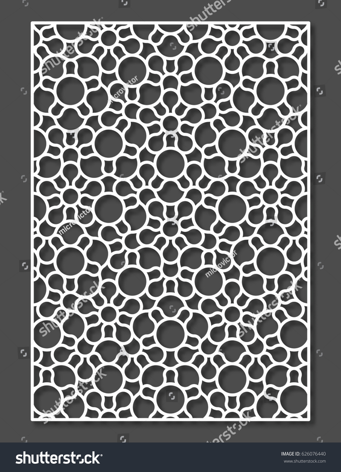 Penrose tiling stile laser cutting panel stock vector 626076440 penrose tiling stile laser cutting panel vector geometric ornament dailygadgetfo Image collections