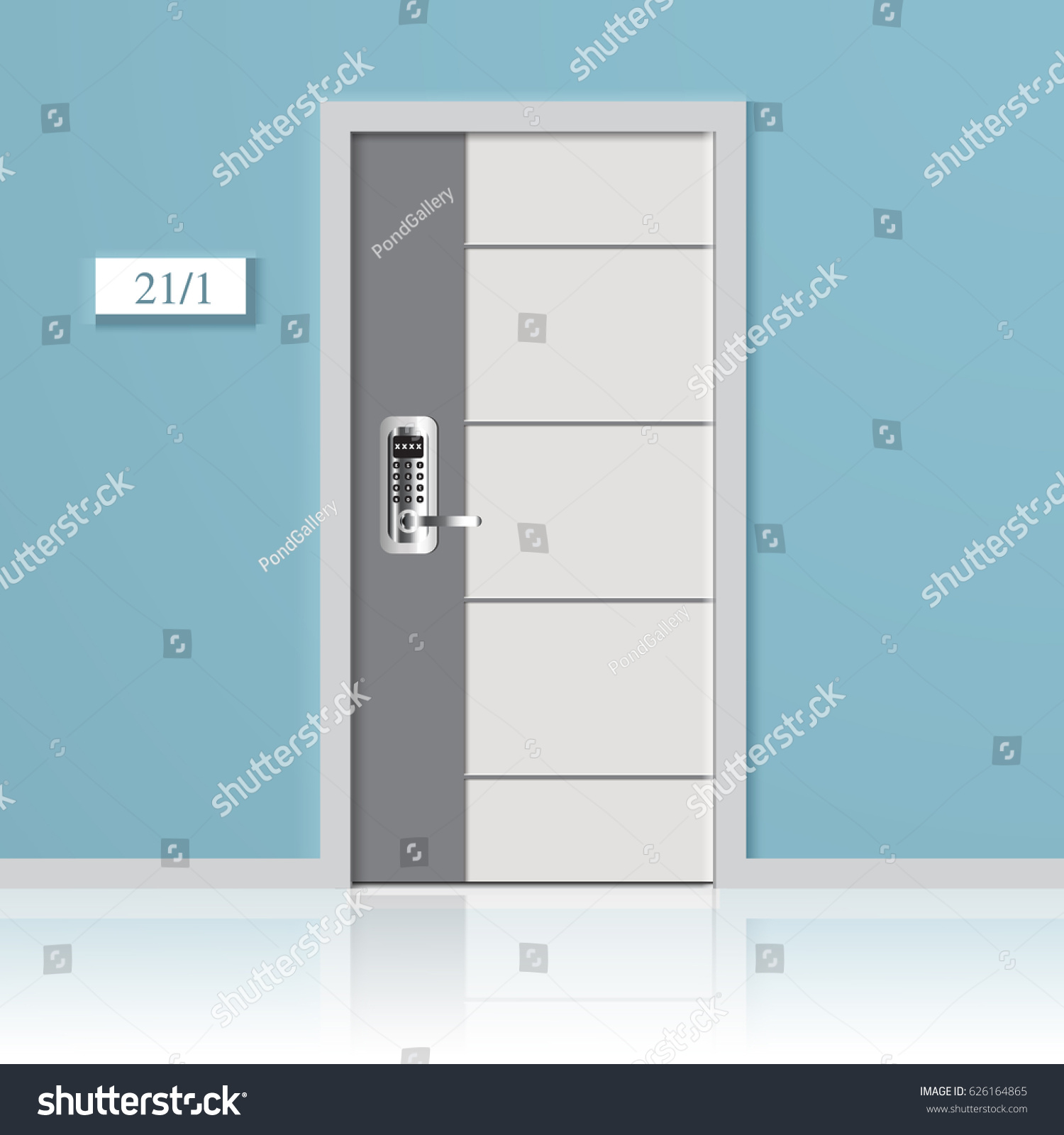 Elements Architecture Front Doors Background Closed Stock Vector ...