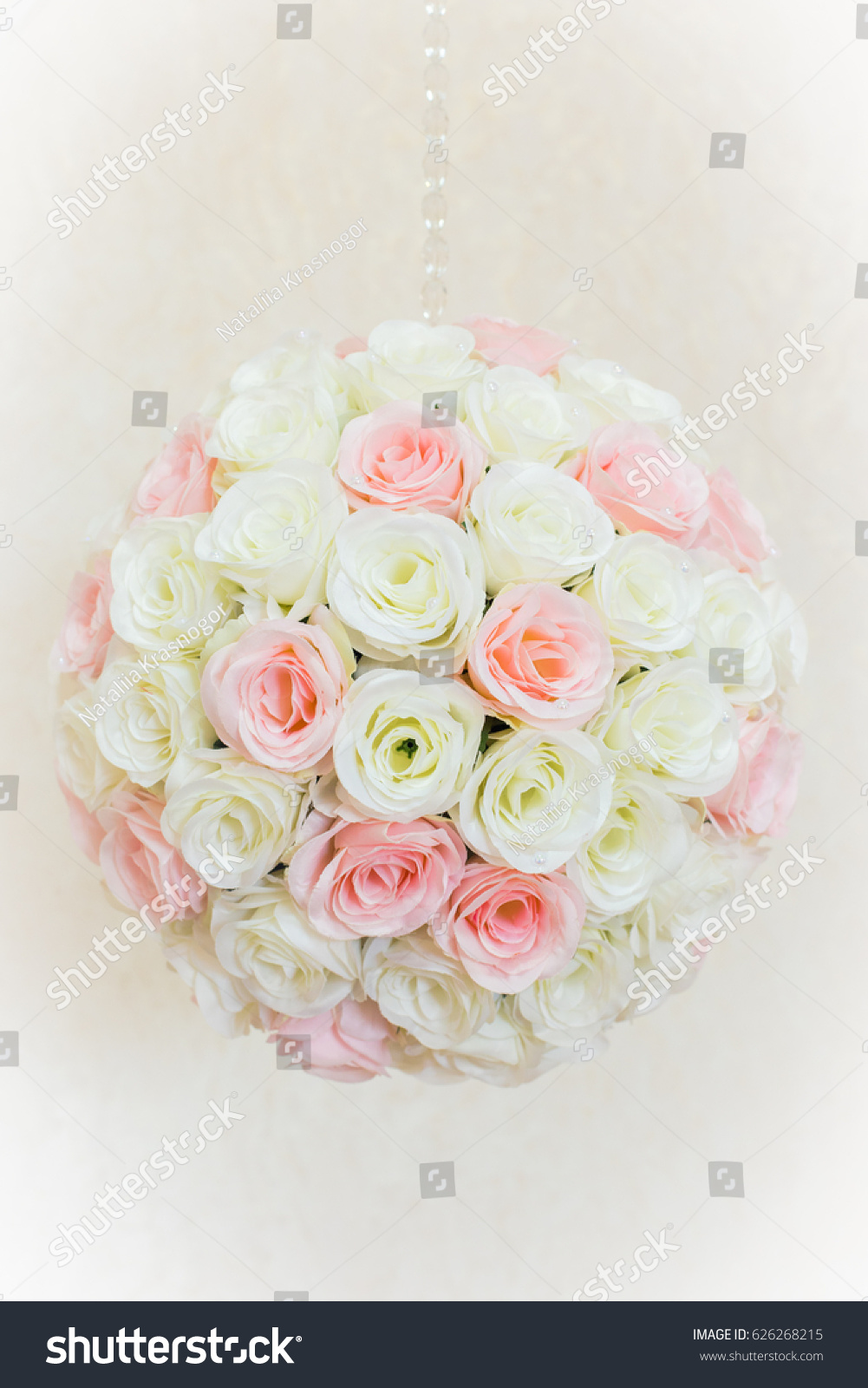 Pink And White Flower Ball Ez Canvas