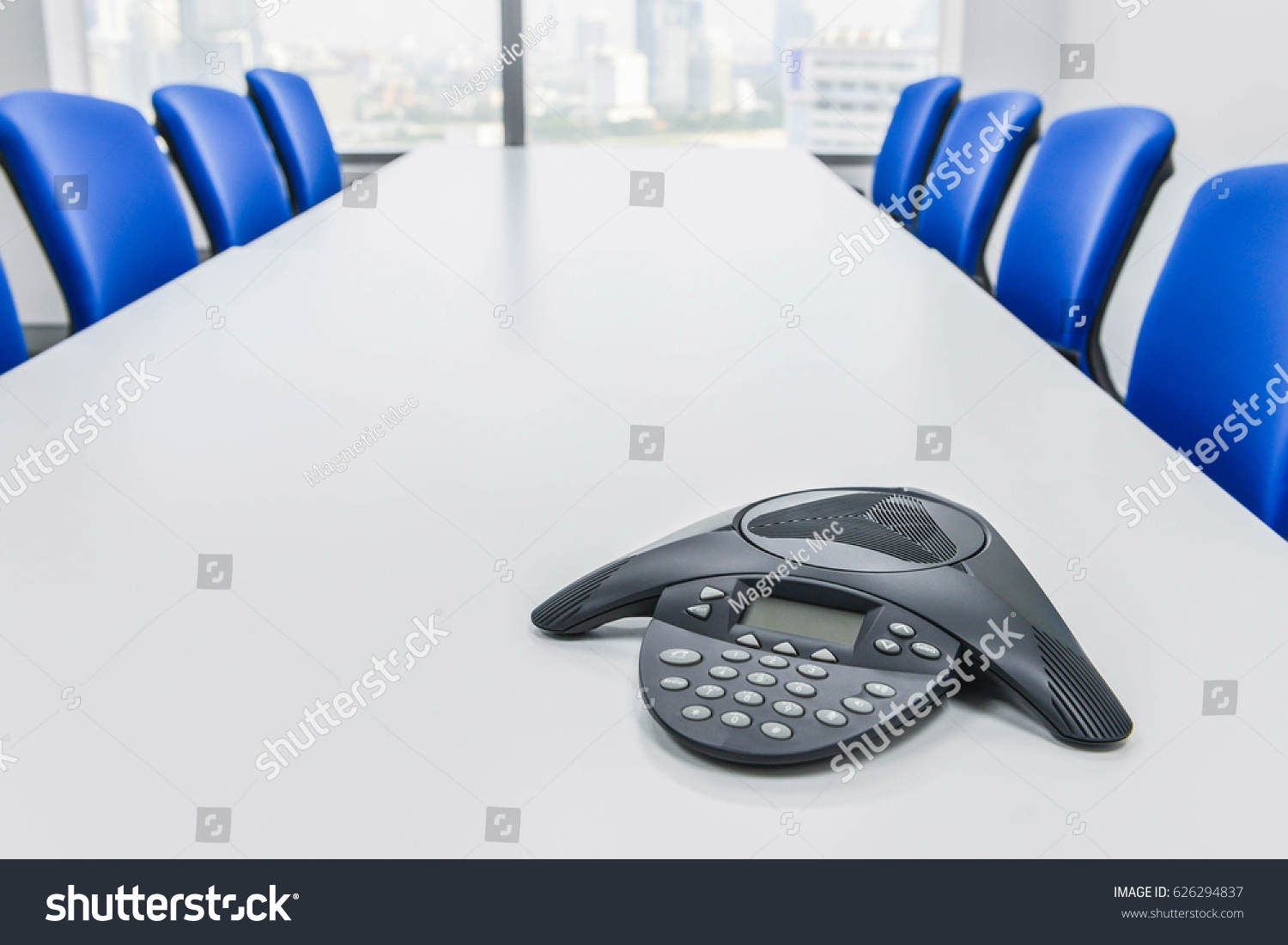 Ip Conference Device On Table Meeting Stock Photo Edit Now
