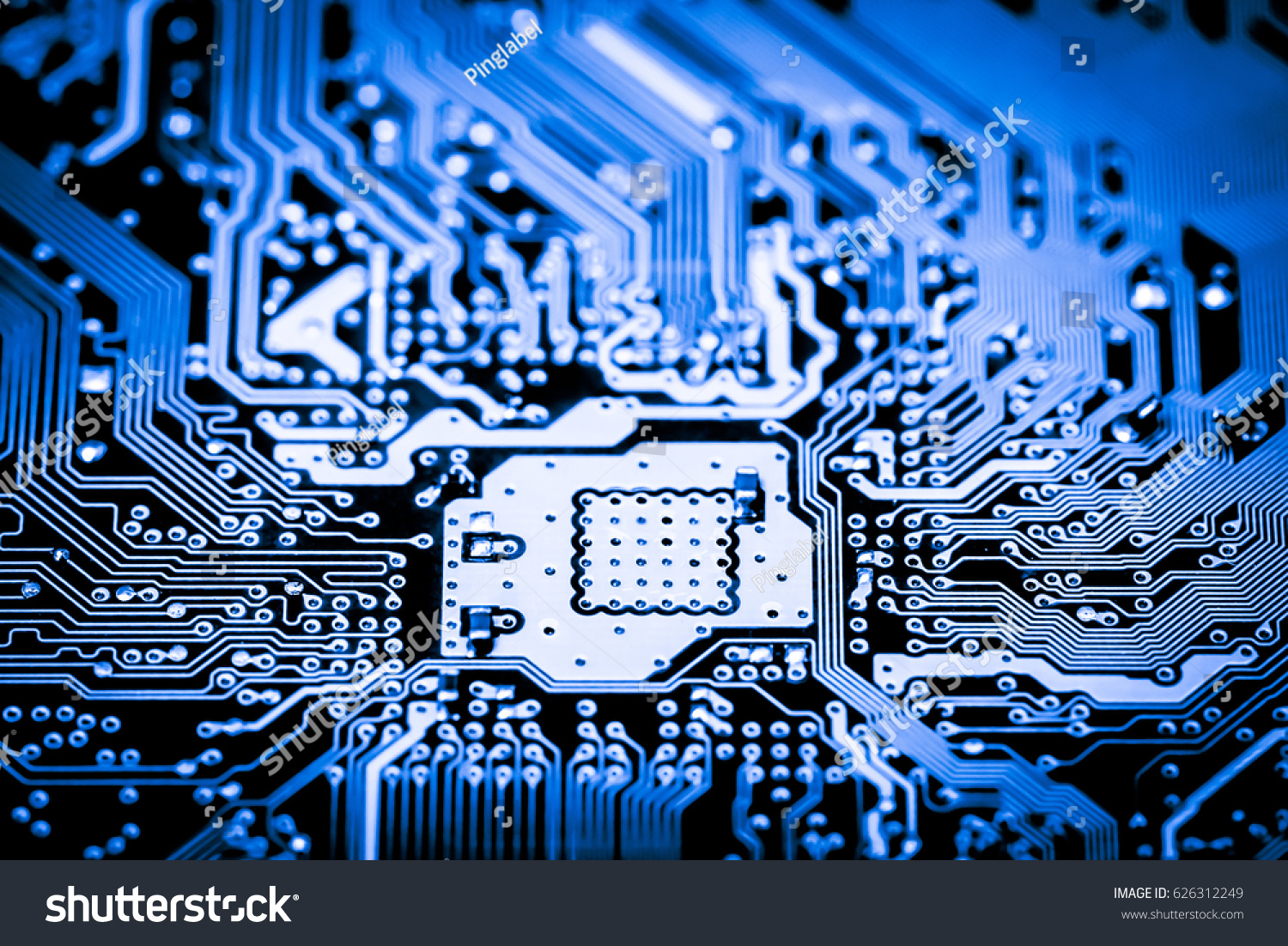 Close Up Of Electronic Circuits In Technology On Mainboard Circuit And Logic Design Id 626312249