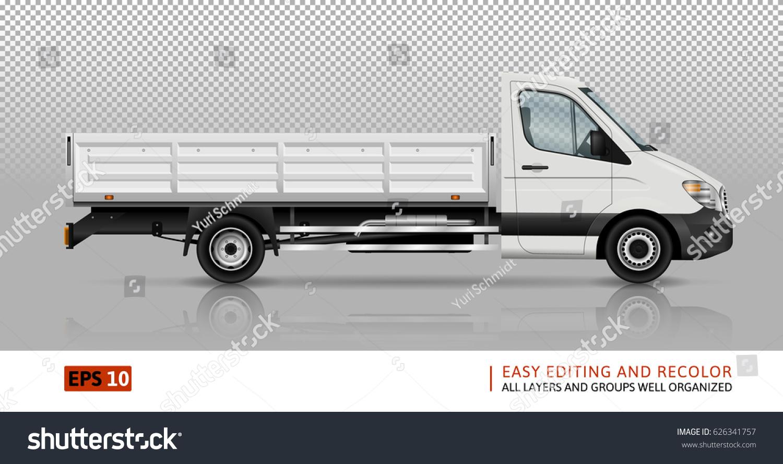 Flatbed Truck Template Car Branding Advertising Vector de stock ...