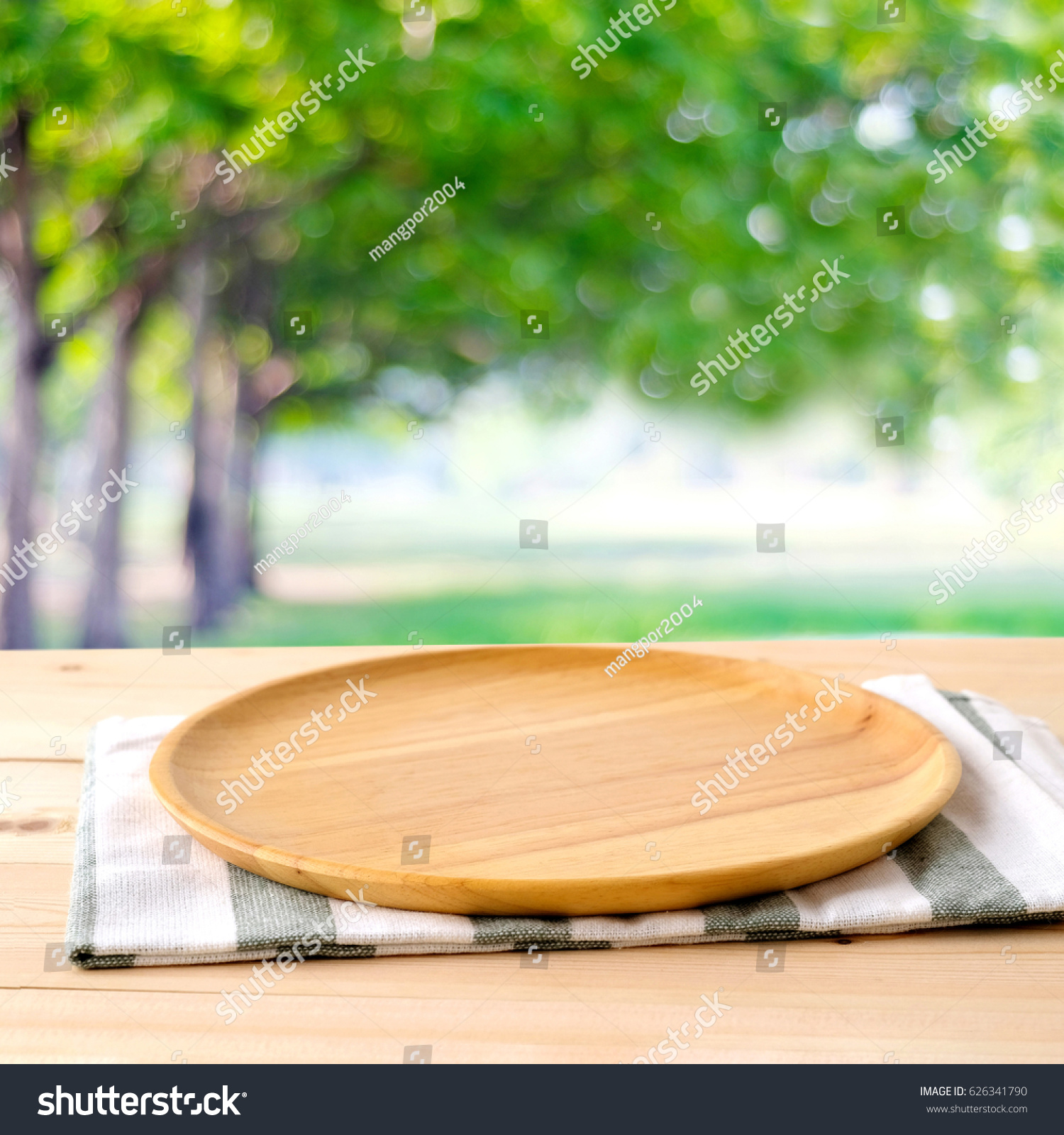 Food Background Template Table Wood Plate Stock Photo Edit Now 626341790