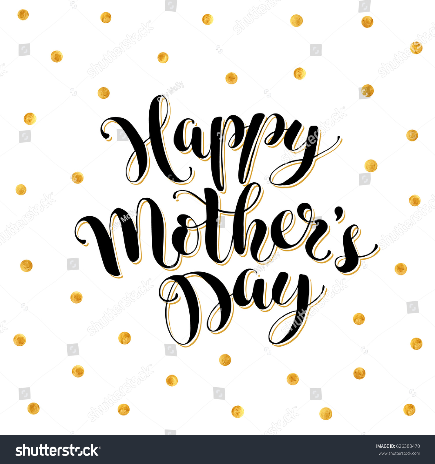 Mothers day greeting card template happy stock vector 626388470 mothers day greeting card template happy mothers day wording with golden dots on background kristyandbryce Choice Image