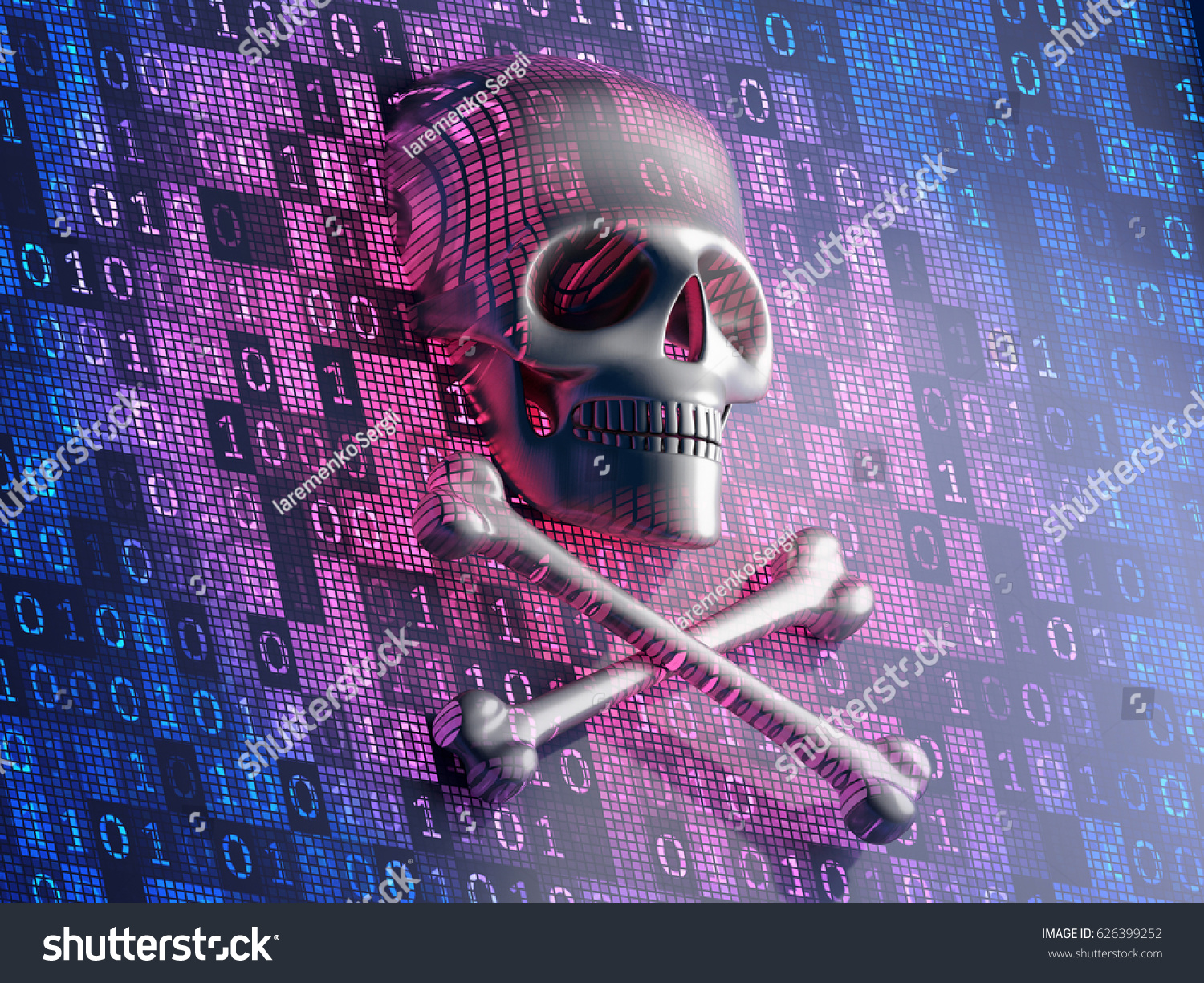 Digital security concept human scull cross stock illustration human scull and cross bones on a virtual digital screen symbolizes the biocorpaavc