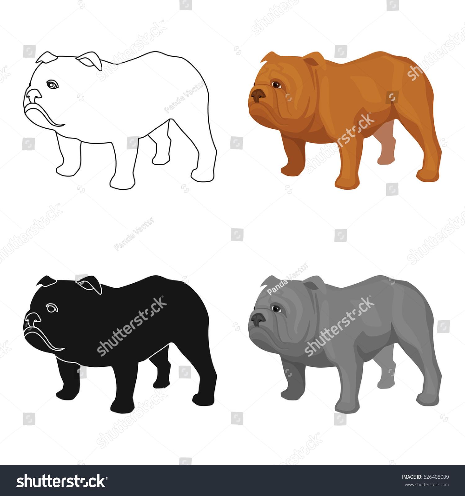 English bulldog icon cartoon style isolated stock vector 626408009 english bulldog icon in cartoon style isolated on white background england country symbol stock vector biocorpaavc