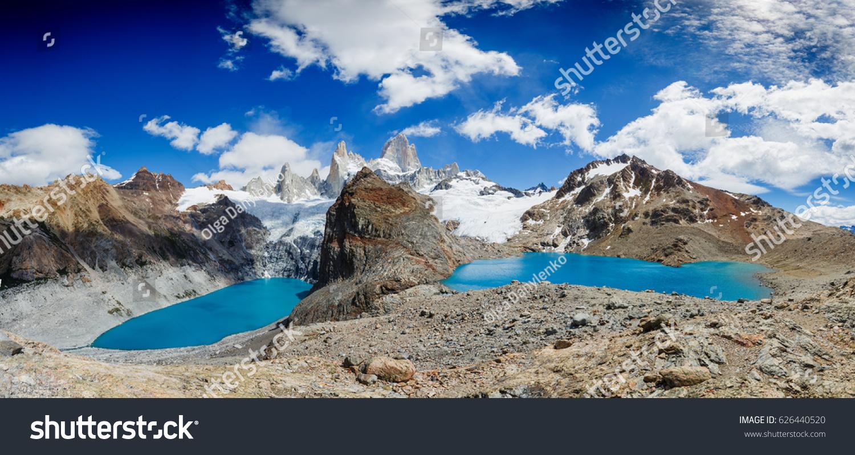 Famous Mount Fitz Roy Panorama Symbol Stock Photo Edit Now