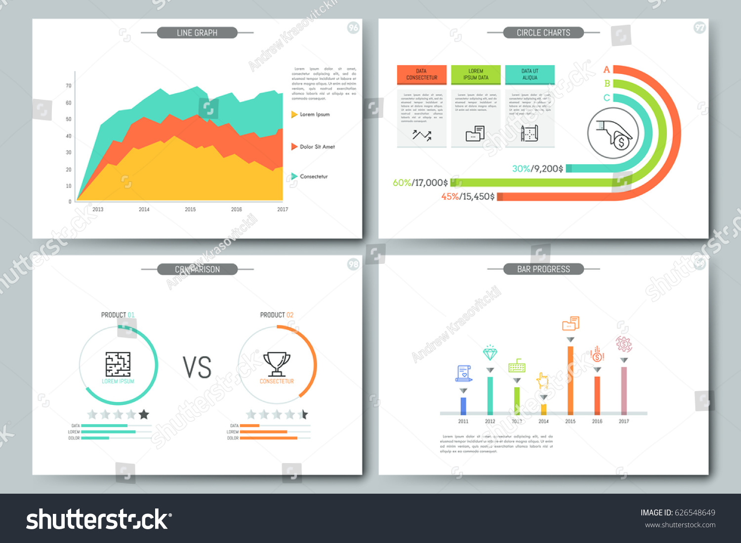 Minimal Infographic Brochure Template Pages Comparison Stock ...