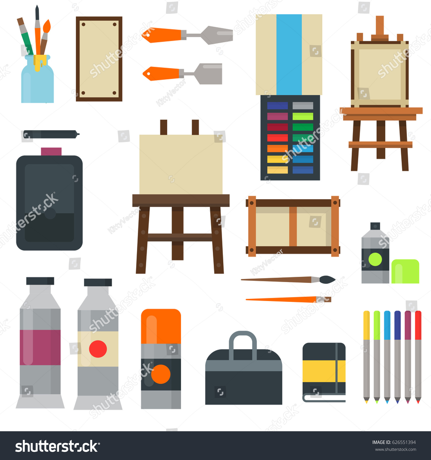 Creative Furniture Icons Set Flat Design House Tools And Furniture