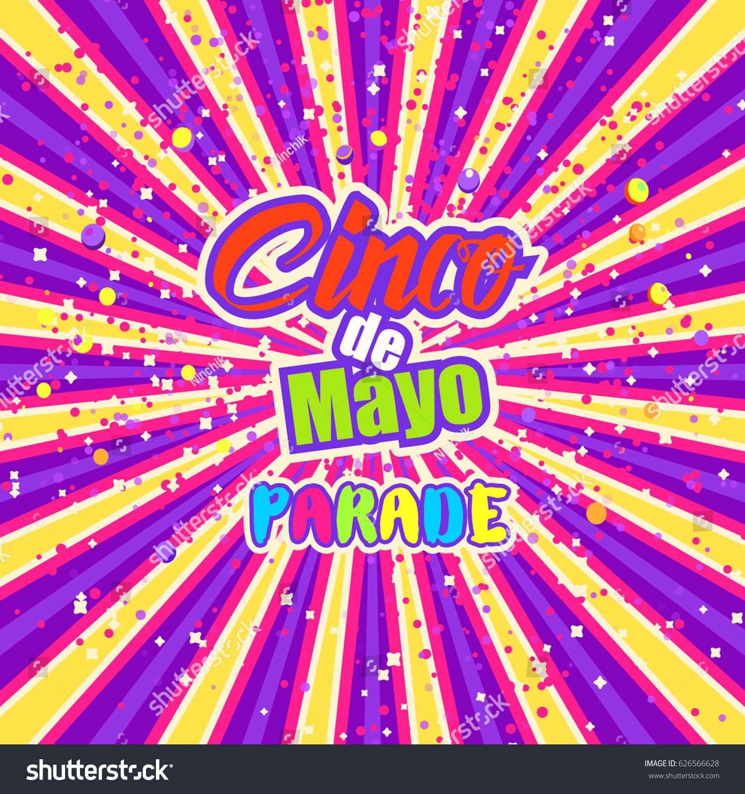 Cinco De Mayo Celebration Mexico Design Stock Vector Royalty Free