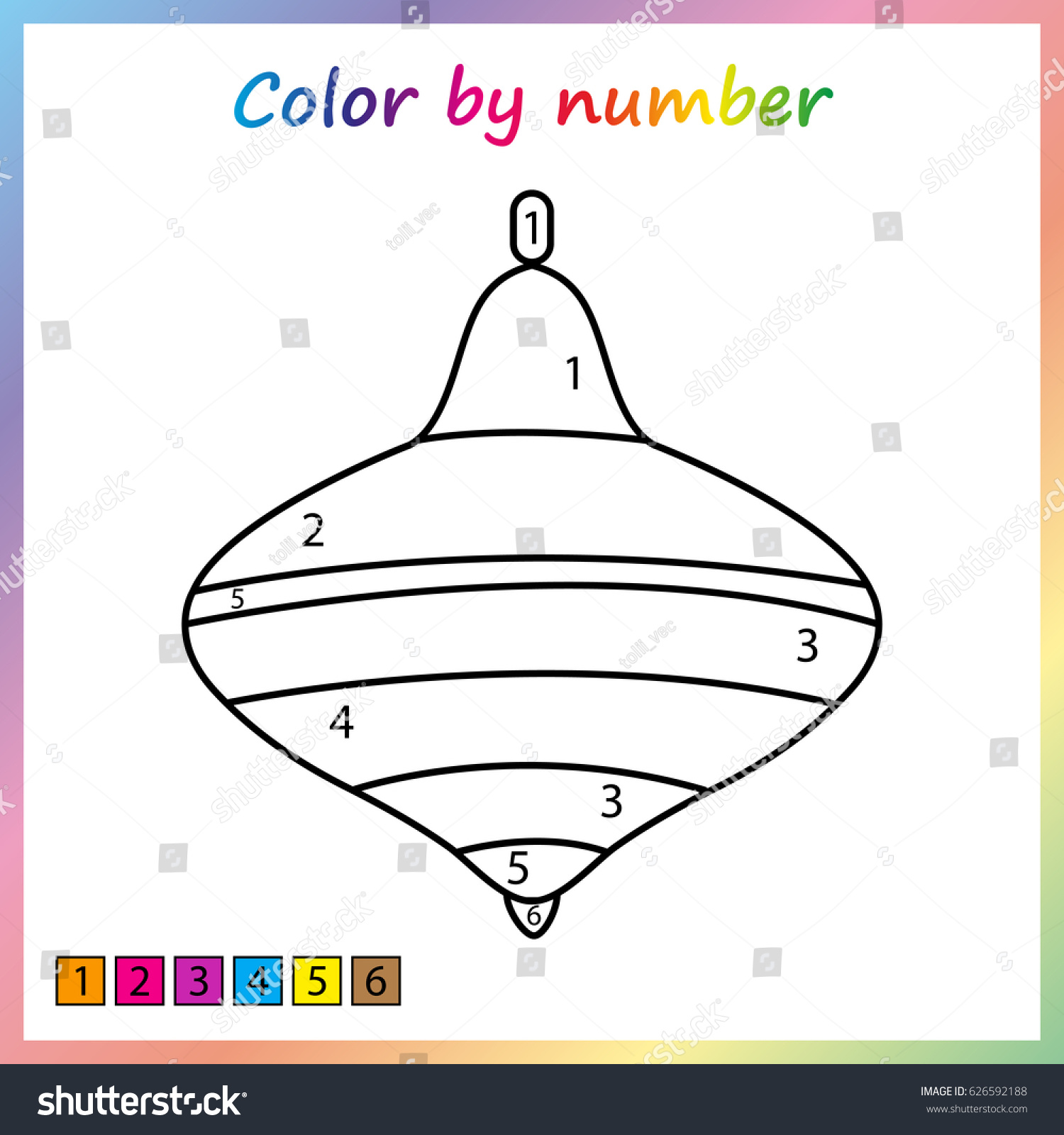 whirligig toy painting page color by stock vector 626592188