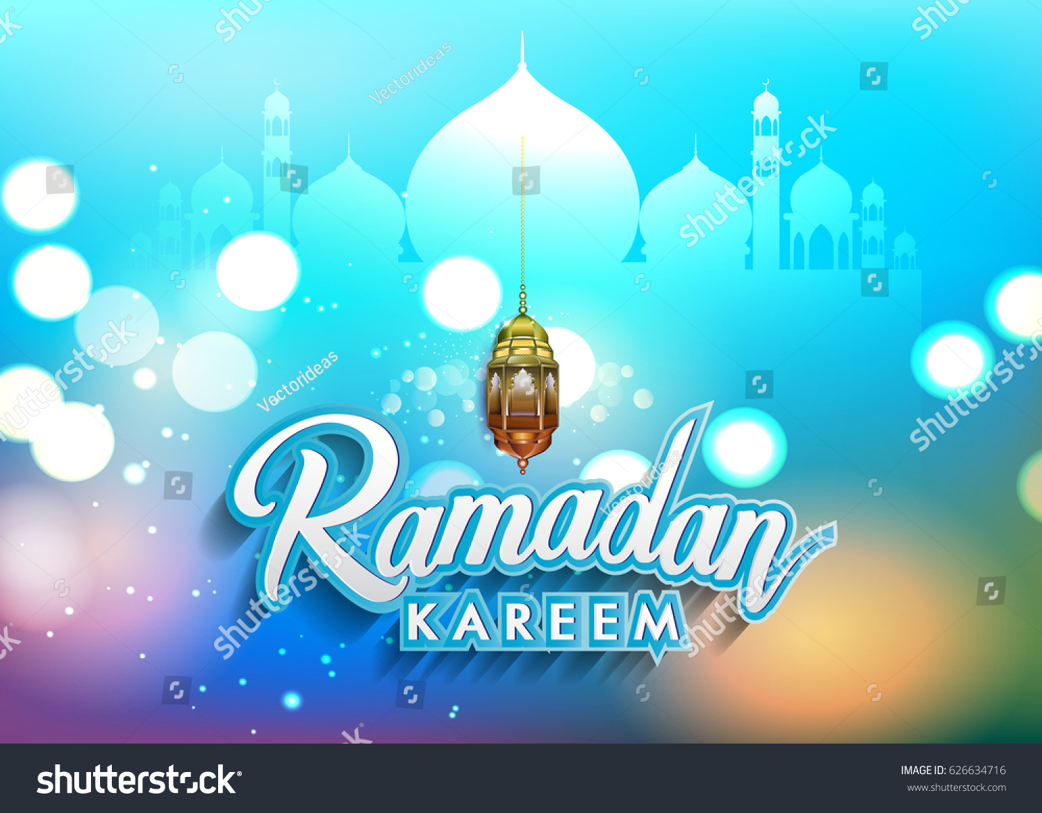 Ramadan Greetings Background Elegant Element Design Stock Vector
