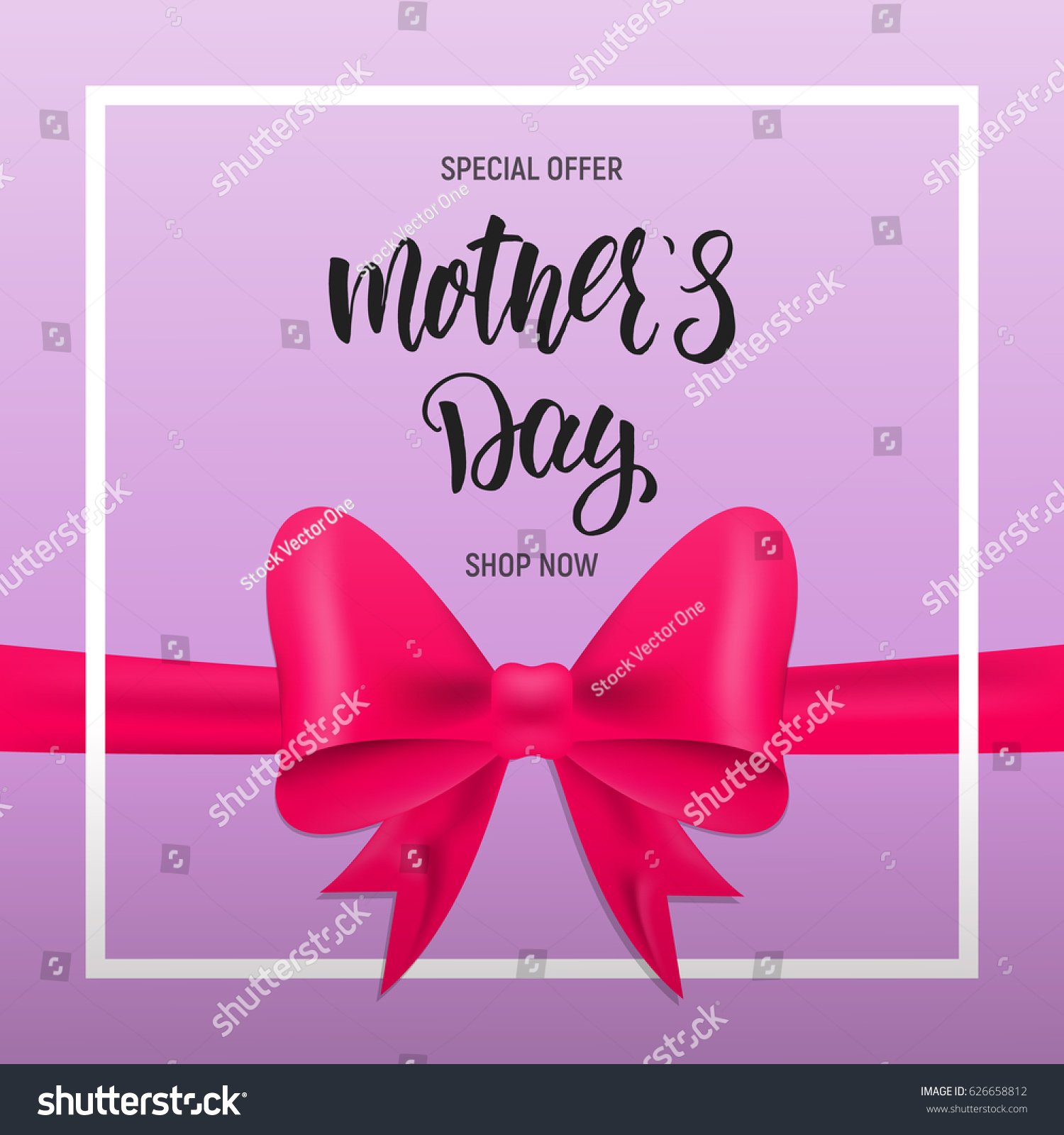 Happy Mothers Day Greeting Card Design Stock Illustration 626658812