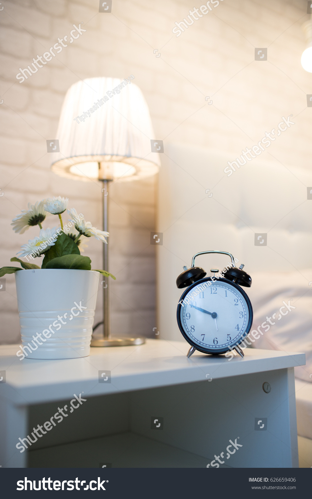 Best Alarm Bedside - stock-photo-alarm-clock-on-the-bedside-table-near-the-bed-626659406  Image_488322.jpg