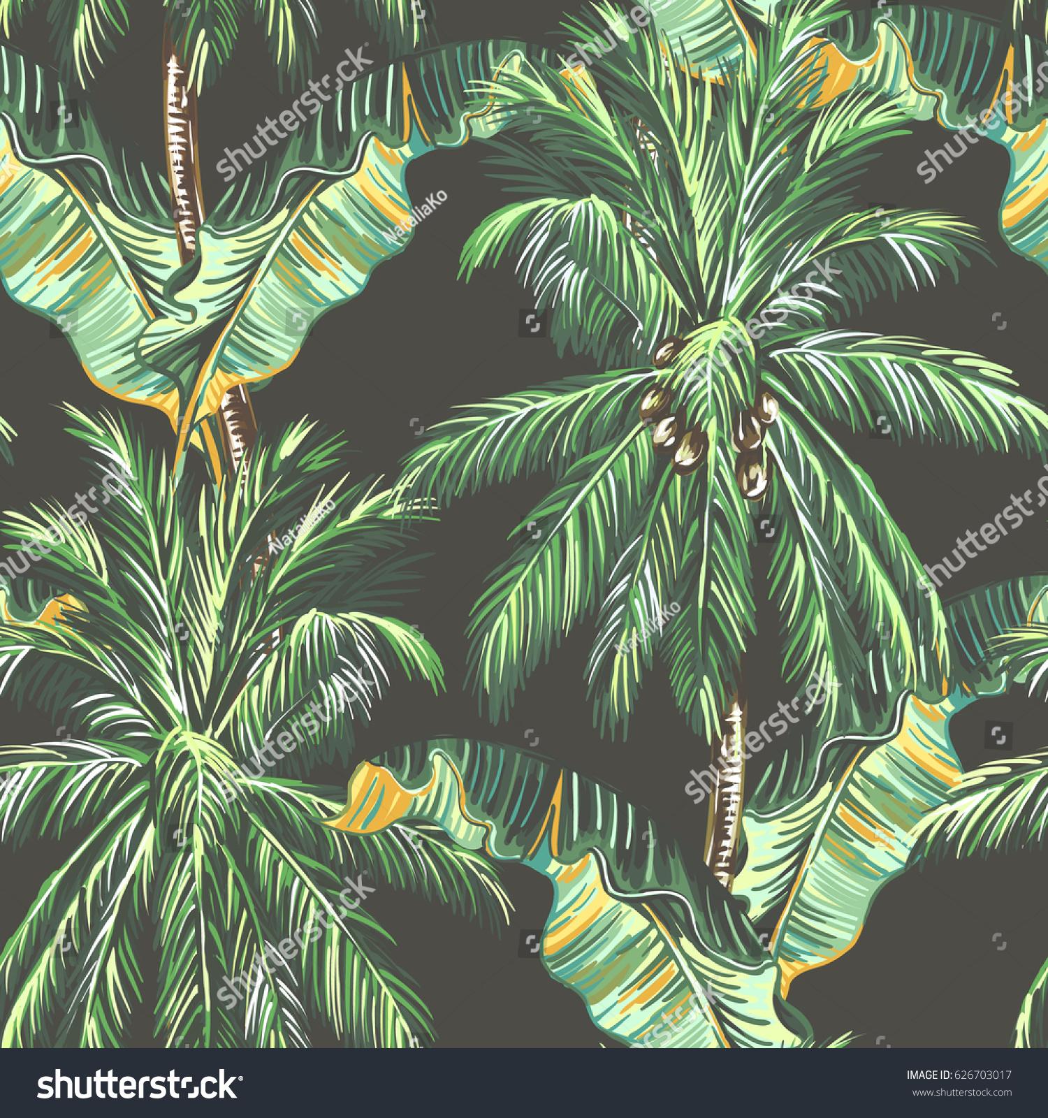 Palm Trees Tropical Leaves Banana Leaf 626703017