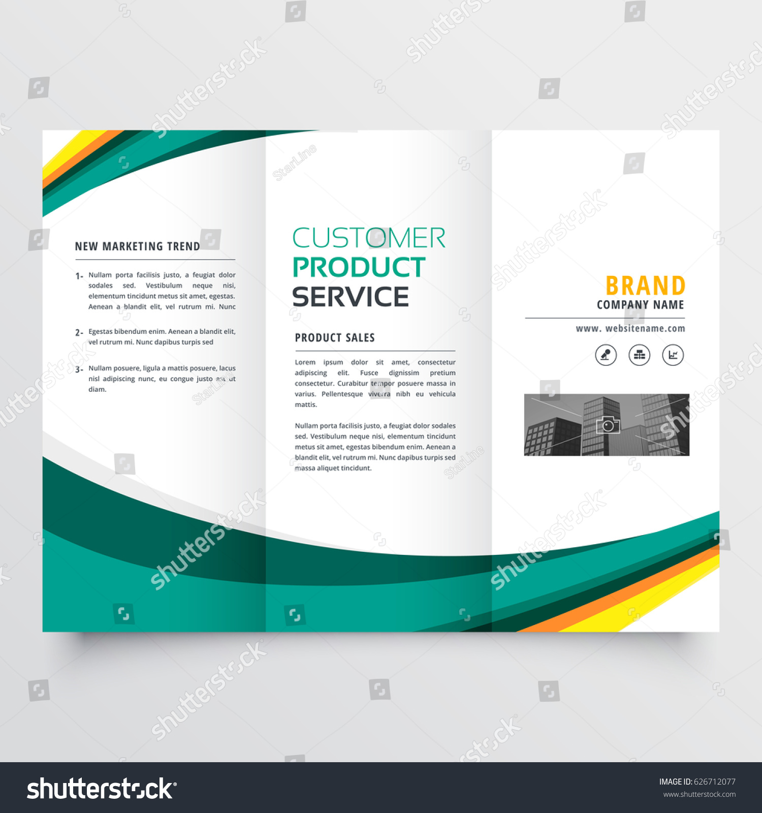 Stylish Modern Trifold Brochure Design Template Stock Vector ...