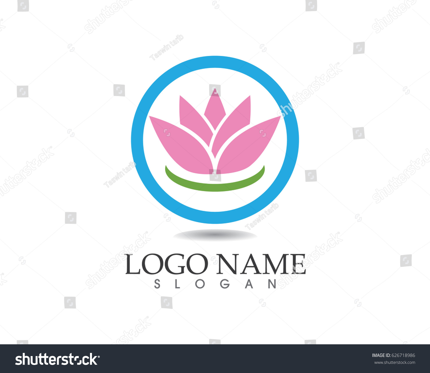 Lotus flower spa logo ez canvas id 626718986 izmirmasajfo