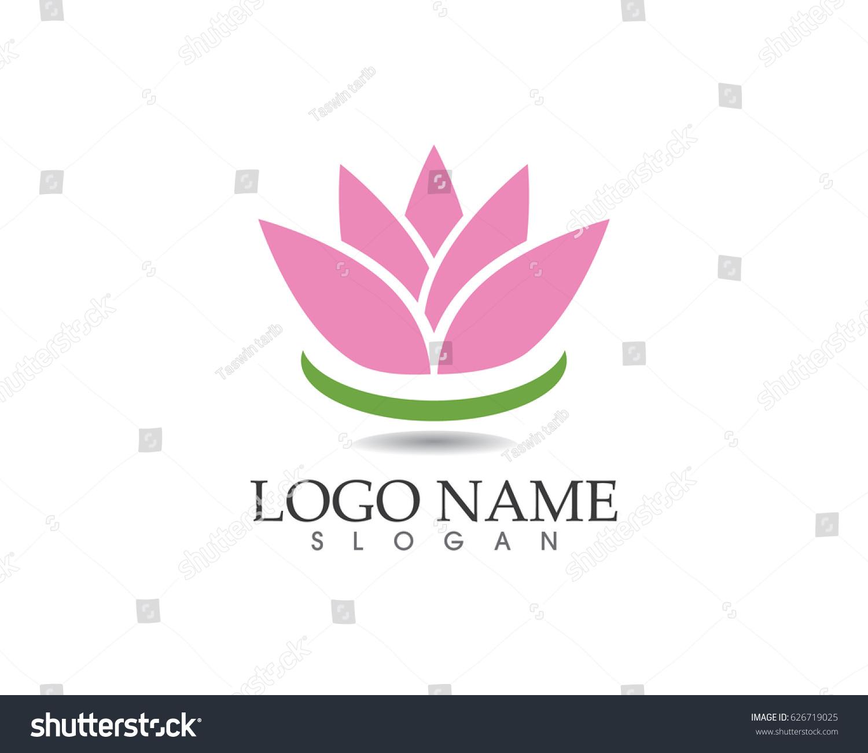 Lotus flower spa logo ez canvas izmirmasajfo