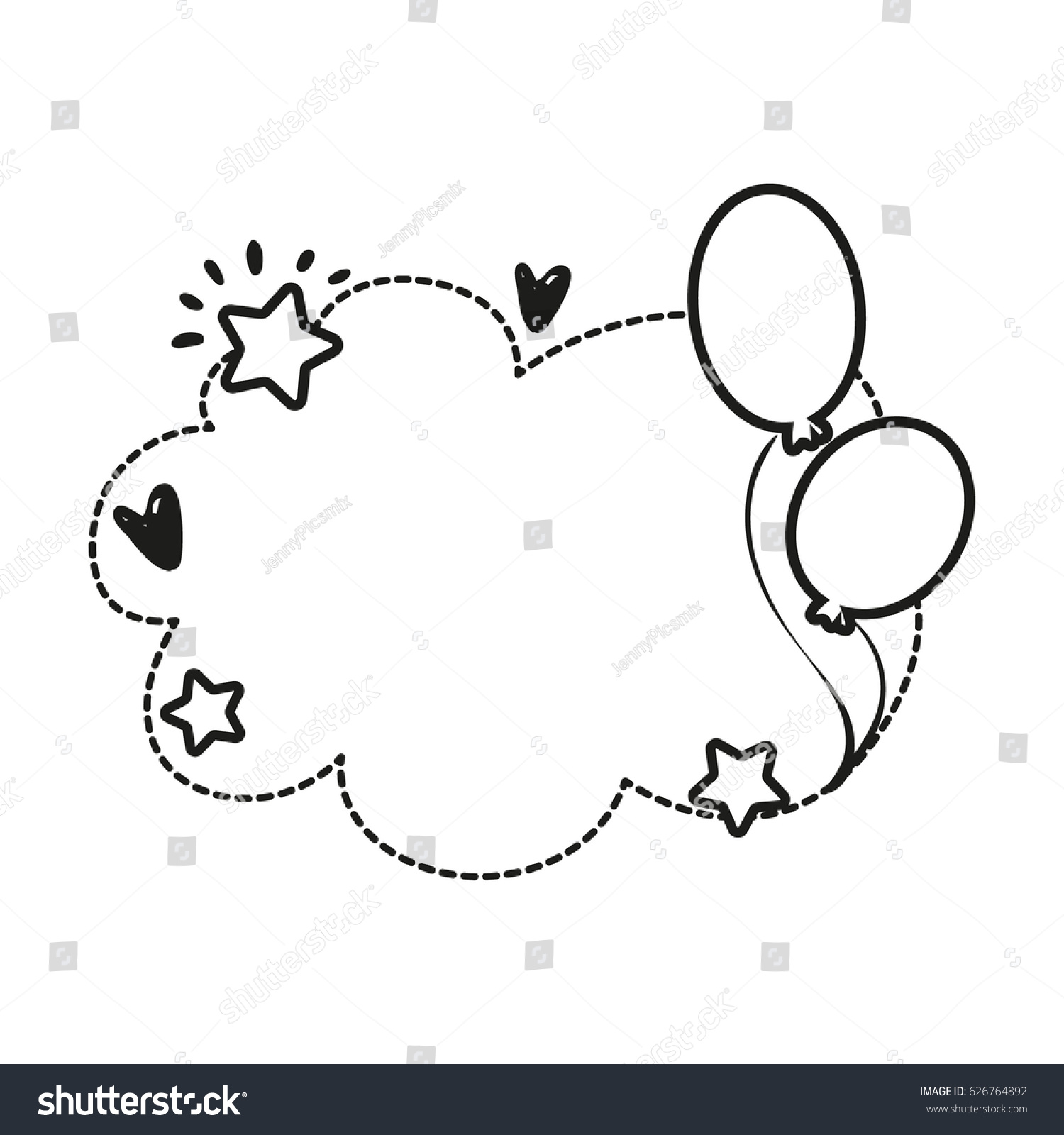 black white vector border birthday party stock vector royalty free